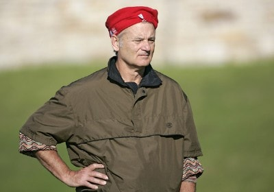 Bill Murray during the third round of the  AT&T Pebble Beach National Pro-Am on Pebble Beach Golf Links in Pebble Beach, California on February 11, 2006.