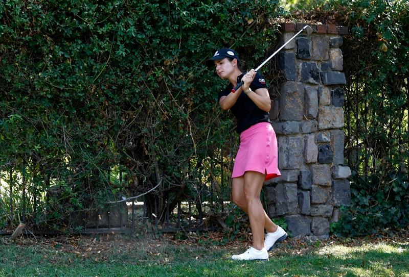 DANVILLE, CA - SEPTEMBER 27:  Lorena Ochoa of Mexico hits her 2nd shot on the 8th hole during the final round of the CVS/pharmacy LPGA Challenge at Blackhawk Country Club on September 27, 2009 in Danville, California.  (Photo by Jonathan Ferrey/Getty Images)