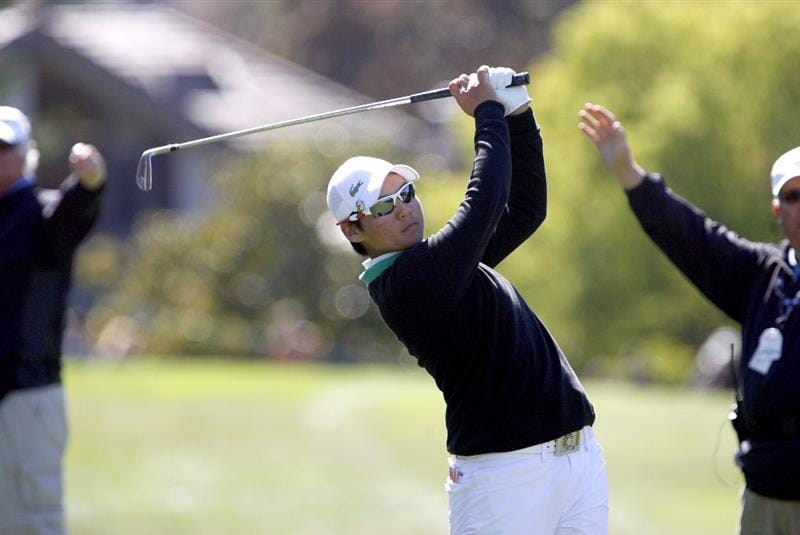 DANVILLE, CA - OCTOBER 12: Yani Tseng of Taiwan hits a shot on the 8th hole during the final round of the LPGA Longs Drugs Challenge at the Blackhawk Country Club October 12, 2008 in Danville, California. (Photo by Max Morse/Getty Images)