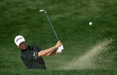 Chez Reavie makes a shot out of the bunker on the second hole during the fourth round of the 49th Bob Hope Chrysler Classic on January 19, 2008 at the Classic Club in Palm Desert, California. PGA TOUR - 2008 Bob Hope Chrysler Classic - Round FourPhoto by Robert Laberge/Getty Images