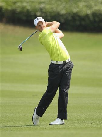 CHENGDU, CHINA - APRIL 24: Danny Willett of England in action during day four of the Volvo China Open at Luxehills Country Club on April 24, 2011 in Chengdu, China.  (Photo by Ian Walton/Getty Images)