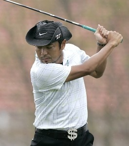 Shingo Katayama during the third round of the BellSouth Classic at TPC Sugarloaf in Duluth, Georgia, on April 1, 2006.Photo by: Stan Badz/Wireimage