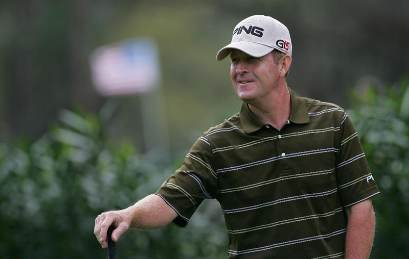 PALM HARBOR, FL - MARCH 18:  Jeff Maggert waits to play during the first round of the Transitions Championship at the Innisbrook Resort and Golf Club held on March 18, 2010 in Palm Harbor, Florida.  (Photo by Michael Cohen/Getty Images)