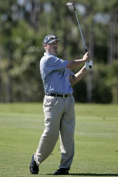 Brett Wetterich in action at the fourth hole during the third round of The Honda Classic, March 12,2005, held at The Country Club at Mirasol, Palm Beach Gardens, Fl.