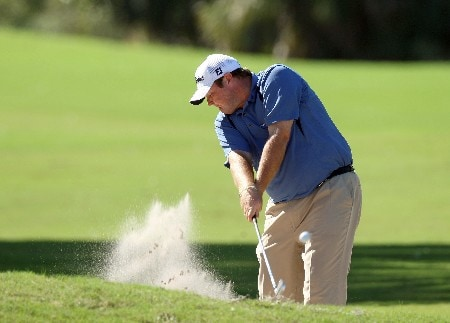 LAKE BUENA VISTA, FLORIDA - NOVEMBER 03:  Jarrod Lyle of Australia hits his second shot at the 9th hole on the Magnolia Course during the third round of The Childrens Miracle Network Classic held on the Palm and Magnolia Courses at The Disney Shades of Green Resort, on November 3, 2007 in Lake Buena Vista, Florida,  (Photo by David Cannon/Getty Images)