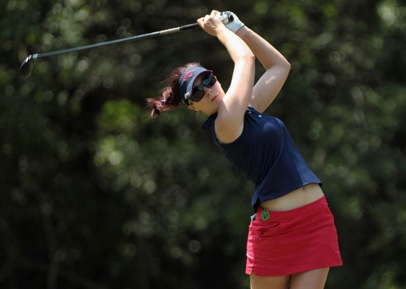 MOBILE, AL - APRIL 30:  Sandra Gal of Germany hits her tee shot on the seventh hole during the third round of the Avnet LPGA Classic at the Crossings Course at the Robert Trent Jones Trail at Magnolia Grove on April 30, 2011 in Mobile, Alabama.  (Photo by Scott Halleran/Getty Images)