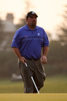 SHANGHAI, CHINA - NOVEMBER 10:  Kevin Stadler of USA walks the fairway during Day 3 of the HSBC Champions at the Sheshan Golf Club on November 10, 2007 in Shanghai, China.  (Photo by Ross Kinnaird/Getty Images)
