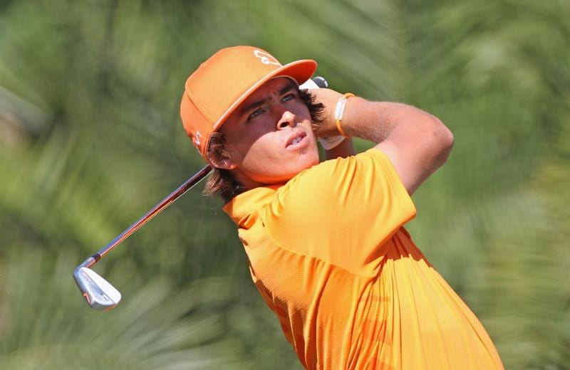 DORAL, FL - MARCH 13:  Rickie Fowler hits his tee shot on the 15th hole during the final round of the 2011 WGC- Cadillac Championship at the TPC Blue Monster at the Doral Golf Resort and Spa on March 13, 2011 in Doral, Florida.  (Photo by Sam Greenwood/Getty Images)