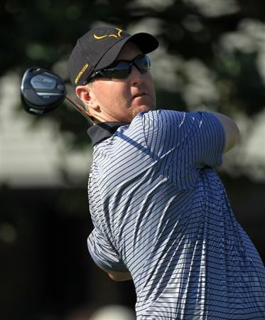 ORLANDO, FL - MARCH 25:  David Duval watches his tee shot at the 1st hole during the second round of the 2011 Arnold Palmer Invitational presented by Mastercard at the Bay Hill Lodge and Country Club on March 25, 2011 in Orlando, Florida.  (Photo by David Cannon/Getty Images)