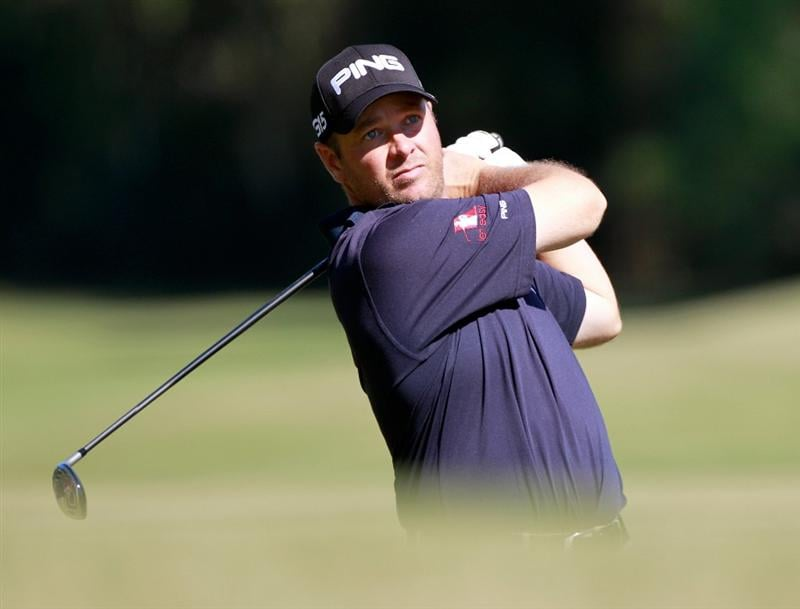 LAKE BUENA VISTA, FL - NOVEMBER 11:  Ted Purdy plays a shot on the 11th hole during the first round of the Children's Miracle Network Classic at the Disney Palm and Magnolia courses on November 11, 2010 in Lake Buena Vista, Florida.  (Photo by Sam Greenwood/Getty Images)