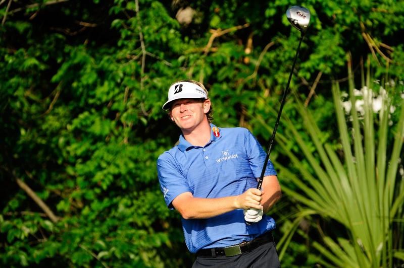 PONTE VEDRA BEACH, FL - MAY 05:  Brandt Snedeker watches his shot during a practice round prior to the start of THE PLAYERS Championship held at THE PLAYERS Stadium course at TPC Sawgrass on May 5, 2010 in Ponte Vedra Beach, Florida.  (Photo by Sam Greenwood/Getty Images)