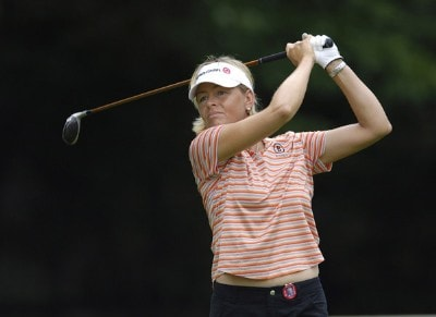 Liselotte Neumann during the first round of the Jamie Farr Owens Corning Classic at Highland Meadows Golf Club in Sylvania, Ohio, on July 13, 2006.Photo by Steve Levin/WireImage.com