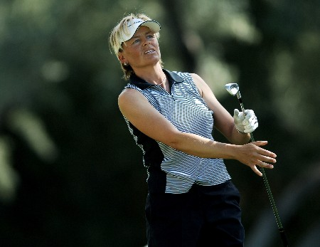Liselotte Neumann in action during the second round of the 2005 LPGA  Takefuji Classic at the Las Vegas Country Club in Las Vegas, Nevada, April 15, 2005Photo by Steve Grayson/WireImage.com
