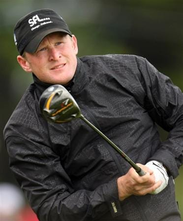 BALTRAY, IRELAND - MAY 16:  Jamie Donaldson of England in action during the third round of The 3 Irish Open at County Louth Golf Club on May 16, 2009 in Baltray, Ireland.  (Photo by Ross Kinnaird/Getty Images)