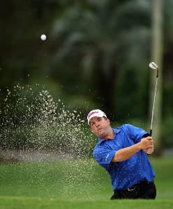 Bob Heintz hits his second shot on the 8th hole on the Palm Course during the first round of The Childrens Miracle Network Classic held on the Palm and Magnolia Courses at The Disney Shades of Green Resort, on November 1, 2007 in Orlando, Florida, PGA TOUR - 2007 Children's Miracle Network Classic presented by Wal-Mart - First RoundPhoto by David Cannon/WireImage.com