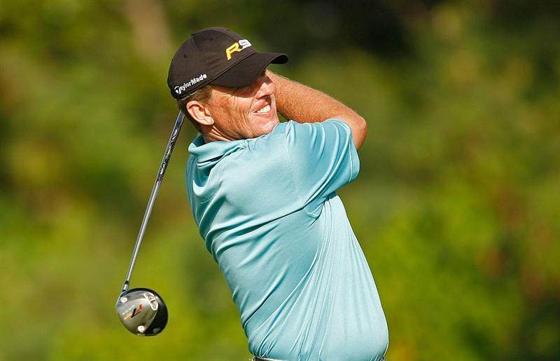 RIO GRANDE, PR - MARCH 15:  Michael Bradley hits his tee shot on the 18th hole during the final round of the 2009 Puerto Rico Open presented by Banco Popular at the Trump International Golf Club on March 15, 2009 in Rio Grande, Puerto Rico.  (Photo by Mike Ehrmann/Getty Images)