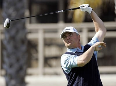 David Eger in action during the final round of the Toshiba Classic at Newport Beach Country Club in Newport Beach, California on March 19, 2006.Photo by Gregory Shamus/WireImage.com
