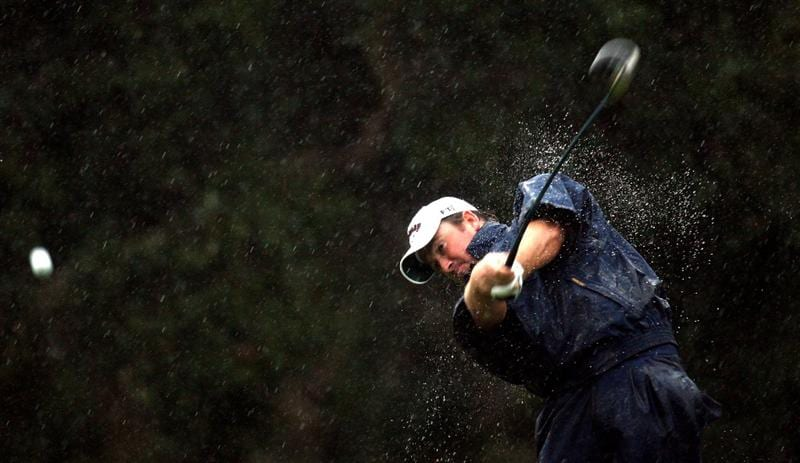 SOTOGRANDE, SPAIN - OCTOBER 31:  Graeme McDowell of Northern Ireland tees off on the par four 2nd hole during the second round of the Volvo Masters at the Valderrama Golf Club on October 31, 2008 in Sotogrande, Spain.  (Photo by Ross Kinnaird/Getty Images)