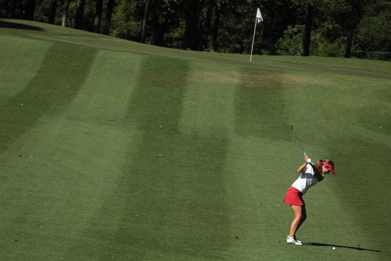 MOBILE, AL - APRIL 28:  Beatriz Recari of Spain hits a shot on the sixth hole during the first round of the Avnet LPGA Classic at the Crossings Course at the Robert Trent Jones Trail at Magnolia Grove on April 28, 2011 in Mobile, Alabama.  (Photo by Scott Halleran/Getty Images)