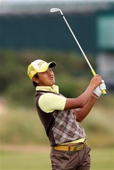 BIRKDALE, UNITED KINGDOM - JULY 14: Hiroshi Iwata of Korea during the first practice round of the 137th Open Championship on July 14, 2008 at Royal Birkdale Golf Course, England. (Photo by Stuart Franklin/Getty Images)