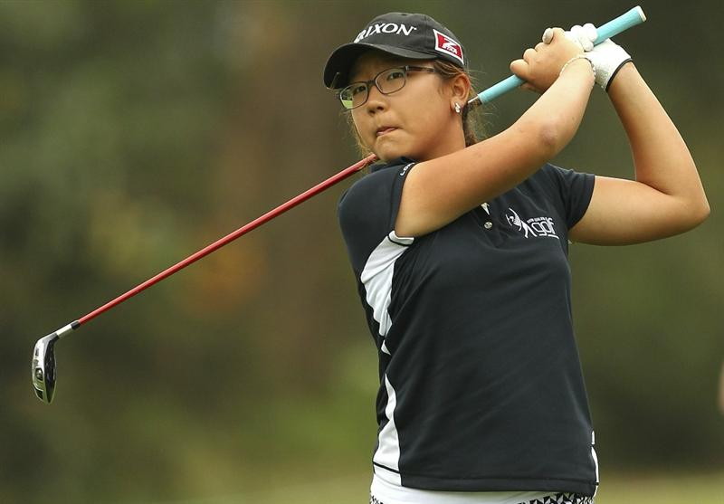 MELBOURNE, AUSTRALIA - FEBRUARY 03:  Lydia Ko of New Zealand plays a shot during day one of the Women's Australian Open at The Commonwealth Golf Club on February 3, 2011 in Melbourne, Australia.  (Photo by Lucas Dawson/Getty Images)