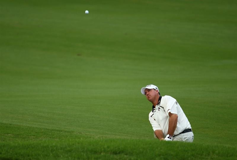 PONTE VEDRA BEACH, FL - MAY 06:  Boo Weekley plays a shot on the 11th hole during the first round of THE PLAYERS Championship held at THE PLAYERS Stadium course at TPC Sawgrass on May 6, 2010 in Ponte Vedra Beach, Florida.  (Photo by Richard Heathcote/Getty Images)