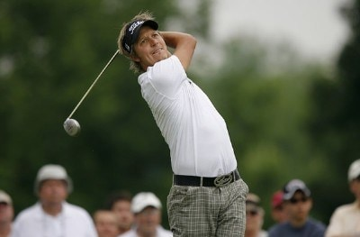 Fredrik Jacobson during the third round of the Memorial Tournament Presented by Morgan Stanley held at Muirfield Village Golf Club in Dublin, Ohio, on June 2, 2007. Photo by Mike Ehrmann/WireImage.com