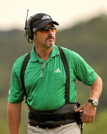 SAN ANTONIO TX - MAY 17: David Feherty during the fourth and final  round of  the Valero Texas Open held at La Cantera Golf Club on May 17, 2009 in San Antonio, Texas.  (Photo by Marc Feldman/Getty Images)