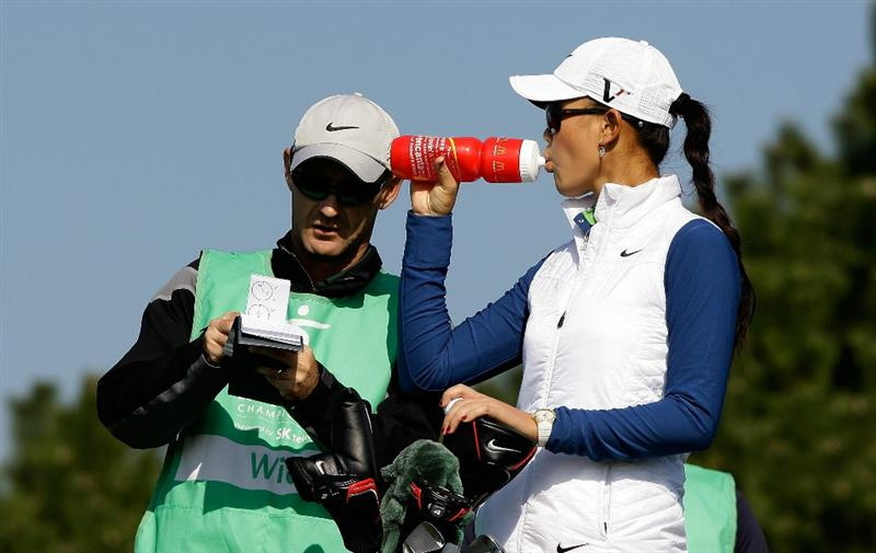 INCHEON, SOUTH KOREA - OCTOBER 30:  Michelle Wie of United States on the 3rd hole during the 2010 LPGA Hana Bank Championship at Sky 72 Golf Club on October 30, 2010 in Incheon, South Korea.  (Photo by Chung Sung-Jun/Getty Images)