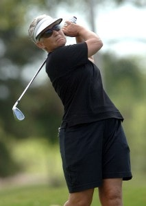 Patty Sheehan in action during the first round of the inaugural 2006 Fields Open in Hawaii at Ko Olina Golf Club in Kapolei, Hawaii February 22, 2006.Photo by Steve Grayson/WireImage.com