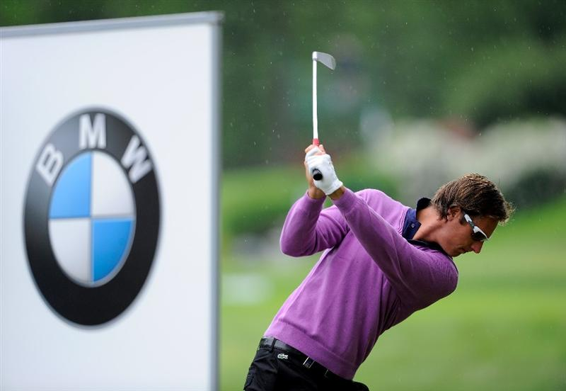 TURIN, ITALY - MAY 09:  Nicolas Colsaerts of Belgium plays his tee shot on the 12th hole during the final round of the BMW Italian Open at Royal Park I Roveri on May 9, 2010 in Turin, Italy.  (Photo by Stuart Franklin/Getty Images)