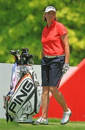 SINGAPORE - MARCH 06:  Wendy Ward of the USA waits on the sixth tee during the second round of the HSBC Women's Champions at the Tanah Merah Country Club on March 6, 2009 in Singapore  (Photo by Scott Halleran/Getty Images)