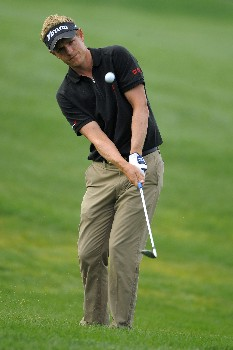 ORLANDO, FL - MARCH 14: Luke Donald of England chips out of the rough on the second hole during the second round of the Arnold Palmer Invitational at Bay Hill Club and Lodge on March 14, 2008 in Orlando, Florida. (Photo by Scott A. Miller/Getty Images)