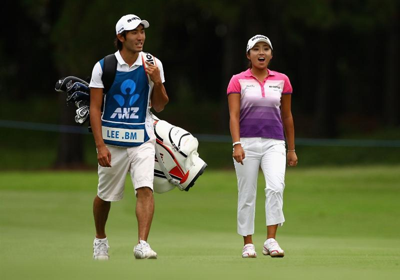 GOLD COAST, AUSTRALIA - MARCH 06:  Bo-Mee Lee of Korea walks down the 18th fairway during round three of the 2010 ANZ Ladies Masters at Royal Pines Resort on March 6, 2010 in Gold Coast, Australia.  (Photo by Ryan Pierse/Getty Images)