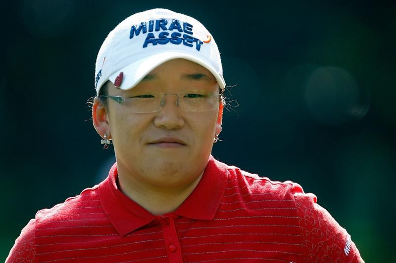 BETHLEHEM, PA - JULY 09:  Jiyai Shin of South Korea smiles as she walks off the first green during the first round of the 2009 U.S. Women's Open at the Saucon Valley Country Club on July 9, 2009 in Bethlehem, Pennsylvania.  (Photo by Scott Halleran/Getty Images)