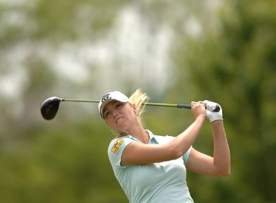Catherine Cartwright in action during the third round of the 2006 Franklin American Mortgage Championship benefiting the Monroe Carell Jr. Children's Hospital at Vanderbilt at Vanderbilt Legends Club in Franklin, Tennessee on May 5, 2006.Photo by Steve Grayson/WireImage.com