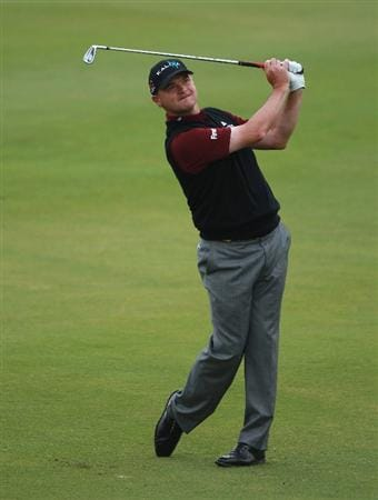 CASARES, SPAIN - MAY 20:  Paul Lawrie of Scotland in action during the group stages of the Volvo World Match Play Championship at Finca Cortesin on May 20, 2011 in Casares, Spain.  (Photo by Andrew Redington/Getty Images)