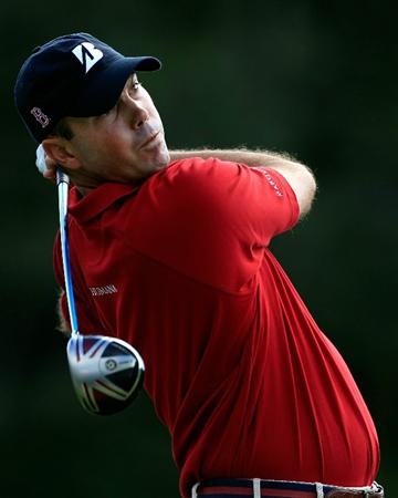 NORTON, MA - SEPTEMBER 05:  Matt Kuchar hits a tee shot on the seventh hole during the third round of the Deutsche Bank Championship at TPC Boston on September 5, 2010 in Norton, Massachusetts.  (Photo by Michael Cohen/Getty Images)
