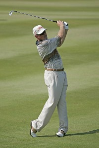 Frank Lickliter II competes in the first round of the B.C. Open held on the Atunyote course at Turning Stone Resort in Vernon, New York, on July 20, 2006.