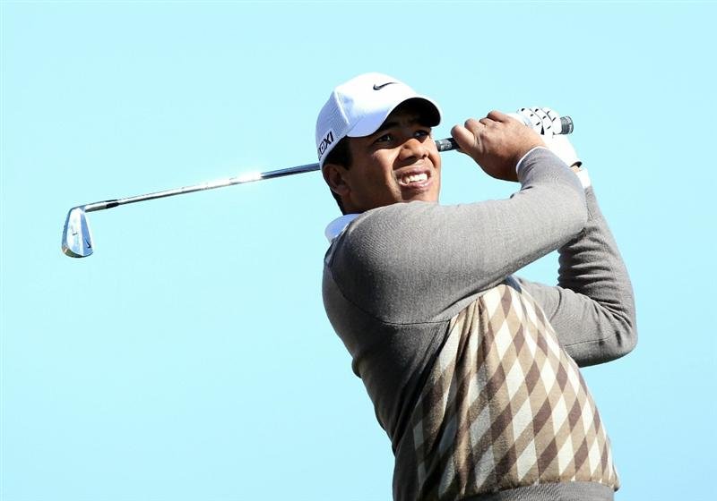 SCOTTSDALE, AZ - FEBRUARY 03:  Jhonattan Vegas of Venezuela hits a tee shot on the 12th hole during the first round of the Waste Management Phoenix Open at TPC Scottsdale on February 3, 2011 in Scottsdale, Arizona.  (Photo by Christian Petersen/Getty Images)