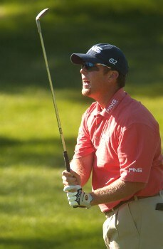 D.A. Points hits from the 12th fairway during the final round of The 2005 INTERNATIONAL at Castle Pines Country Club in Castle Rock, Colorado August 7, 2005.Photo by Steve Grayson/WireImage.com