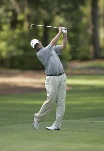 Bo Van Pelt on the  8th hole during the first round of the Verizon Heritage Classic being played at the Harbour Town Golf Links in Hilton Head, South Carolina on April 13, 2006.Photo by Mike Ehrmann/WireImage.com