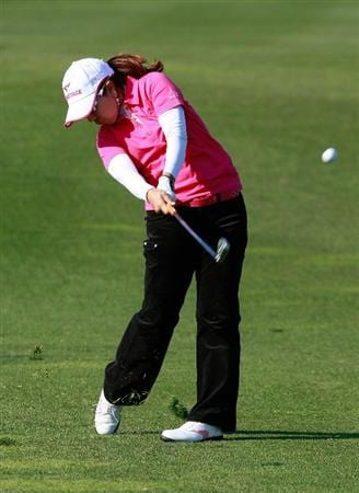 INCHEON, SOUTH KOREA - OCTOBER 30:  Mika Miyazato of Japan on the 16th hole during the 2010 LPGA Hana Bank Championship at Sky 72 Golf Club on October 30, 2010 in Incheon, South Korea.  (Photo by Chung Sung-Jun/Getty Images)
