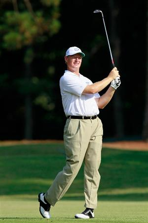 ATLANTA - SEPTEMBER 23:  Ernie Els of South Africa hits a shot on the 16th hole during the first round of THE TOUR Championship presented by Coca-Cola at East Lake Golf Club on September 23, 2010 in Atlanta, Georgia.  (Photo by Kevin C. Cox/Getty Images)