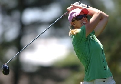 Jill McGill in action during the third round of the LPGA's 2006 Michelob ULTRA Open at Kingsmill, at the Kingsmill Resort and Spa River Course in Williamsburg, Virginia on May 13, 2006.Photo by Steve Grayson/WireImage.com