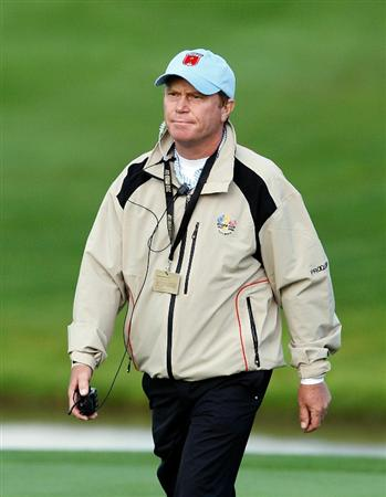 NEWPORT, WALES - OCTOBER 03:  USA Vice Captain Jeff Sluman looks on during the  Fourball & Foursome Matches during the 2010 Ryder Cup at the Celtic Manor Resort on October 3, 2010 in Newport, Wales. (Photo by Sam Greenwood/Getty Images)