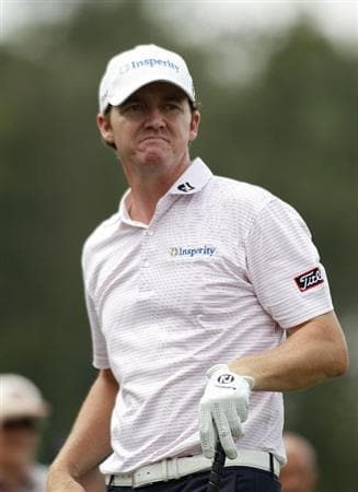 HUMBLE, TX - APRIL 02:  Jimmy Walker watches his drive during the third round of the Shell Houston Open at Redstone Golf Club on April 2, 2011 in Humble, Texas.  (Photo by Michael Cohen/Getty Images)