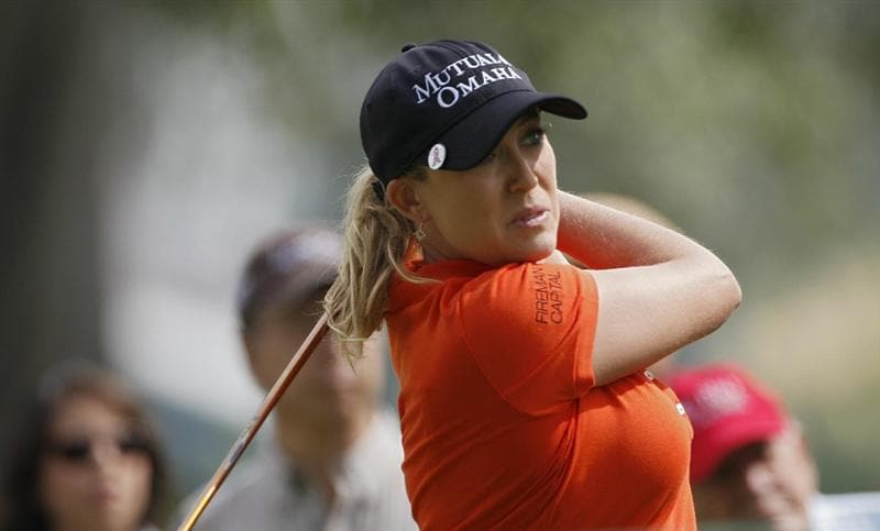 GUADALAJARA, MEXICO - NOVEMBER 12:  Cristie Kerr of the United States hits a drive during the second round of the Lorena Ochoa Invitational Presented by Banamex and Corona Light at Guadalajara Country Club on November 12, 2010 in Guadalajara, Mexico.  (Photo by Michael Cohen/Getty Images)