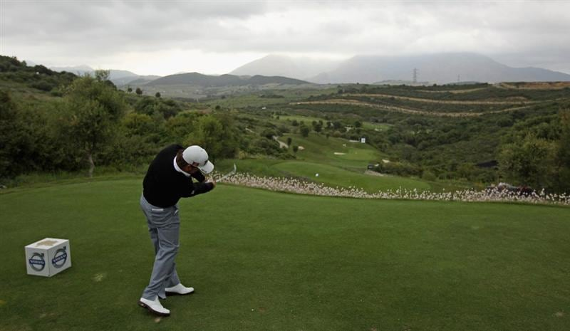 CASARES, SPAIN - MAY 18:  Graeme McDowell of Northern Ireland hits his tee-shot on the tenth hole during the Pro Am prior to the start of the Volvo World Match Play Championship at Finca Cortesin on May 18, 2011 in Casares, Spain.  (Photo by Andrew Redington/Getty Images)
