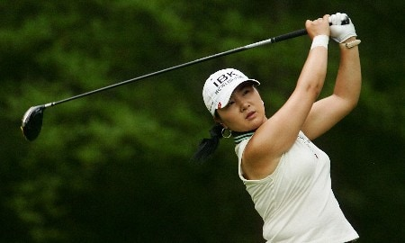 CORNING, NY - MAY 24:  Jeong Jang of South Korea hits her tee shot on the 12th hole during the first round of the Corning Classic at the Corning Country Club on May 24, 2007 in Corning, New York.  (Photo by Kyle Auclair/Getty Images)
